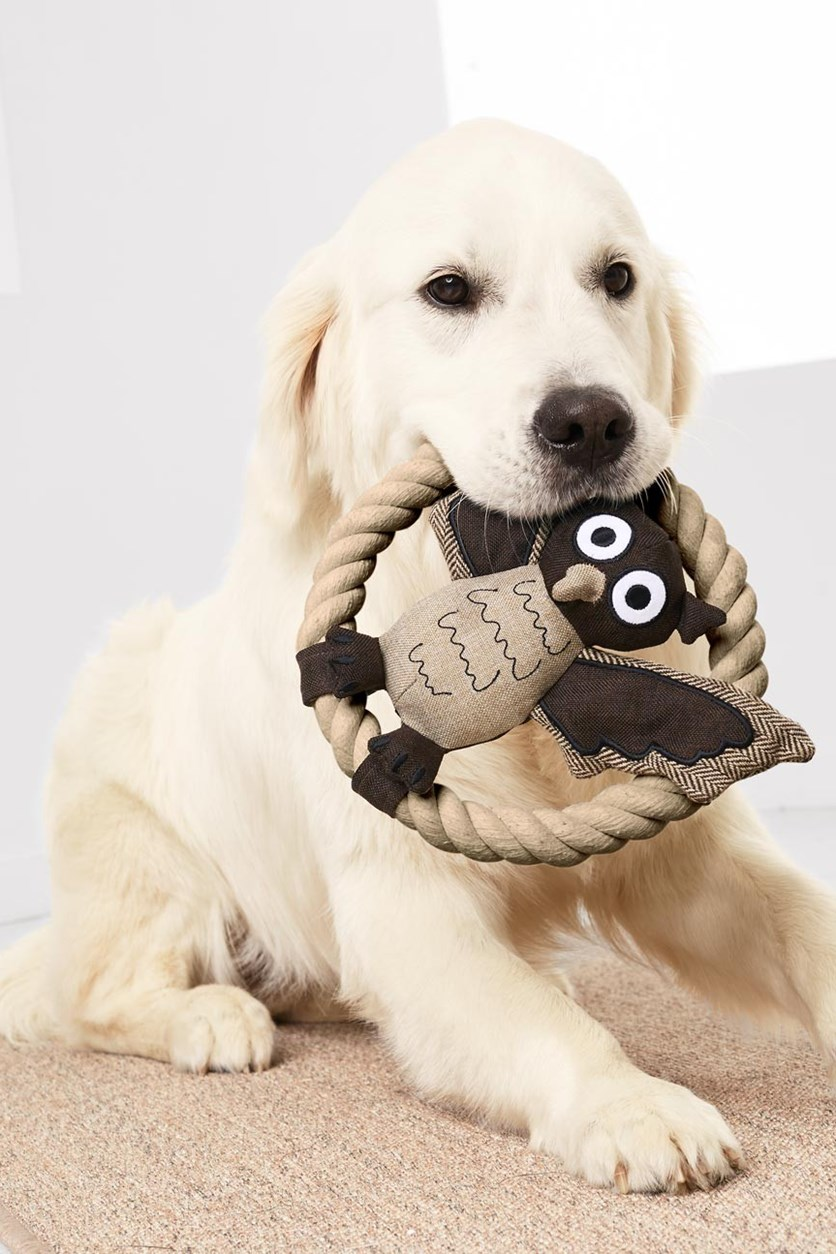 Dog Plush Toy, Beige