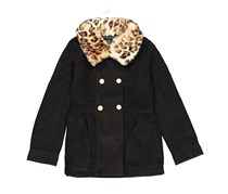 Tahari Kids Girls Snap Closure Jacket, Black