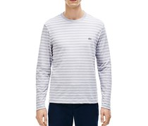 Slub Jersey Stripe Long Sleeve, Silver Chine