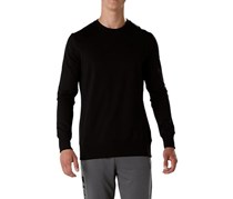 Asics Men's Crew Neck Pullover Sweater, Black