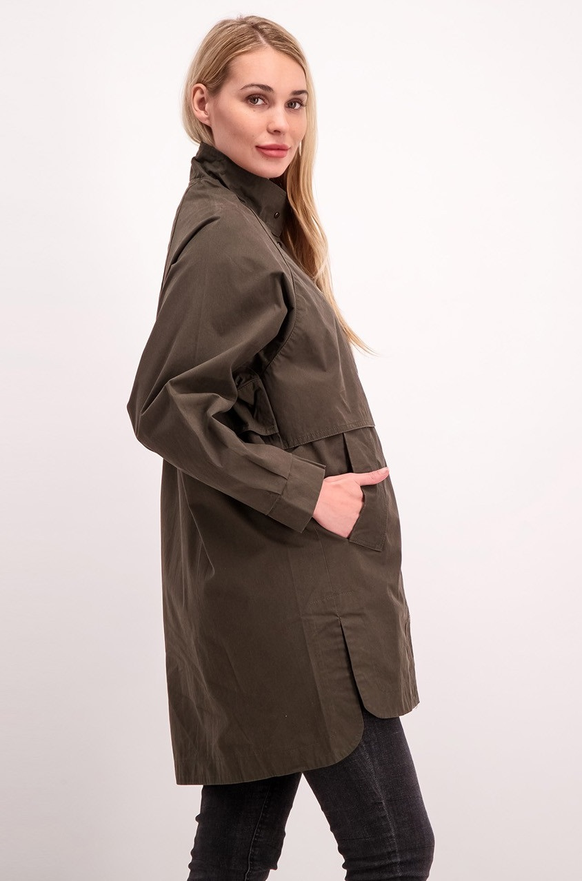 0d169142d Shop Mango Mango Cotton Parka, Olive Green for Women Clothing in ...