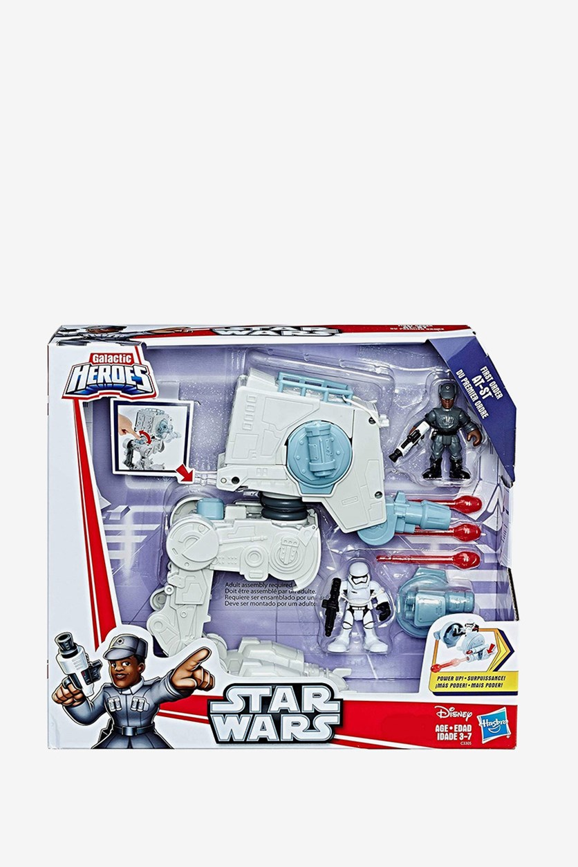 Star Wars Galactic Hereos First Order at-ST with Action Figures, White
