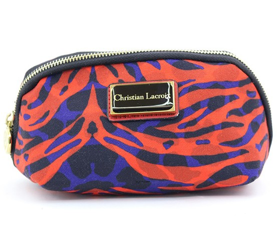 Christian Lacroix Square Cosmetic Case, Red/Blue/Black