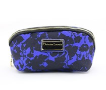 Christian Lacroix Square Cosmetic Case, Dark Blue/Black