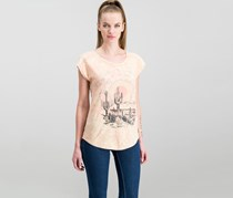 Lucky Brand Desert Dreamer Graphic Top, Washed Peach