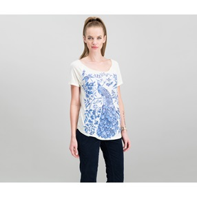 cdf32a7f7c0b Lucky Brand Women s Peacock Graphic T-Shirt
