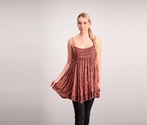 Free People Women's Imperial Palm Tops, Mauve Combo