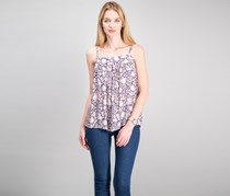Women Sleeveless Top, Maritime Blue/White Combo