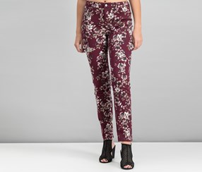 Charter Club Lexington Printed Straight-Leg Pants, Smoky Claret Combo