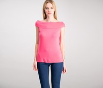 Cable & Gauge Women's Off-The-Shoulder Top, Strawberry Punch