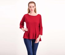 Women Long Sleeve Top, Maroon