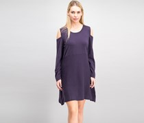 Style & Co. Women's Cold-Shoulder Sweater Dress, Dark Grape
