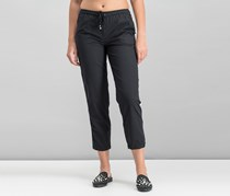 Max Studio London Women's Cropped Track Pants, Black