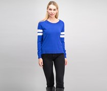 Hippie Rose Women Juniors Varsity Sweater, Rad Royal
