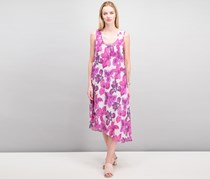 Women Asymmetrical-Hem Tank Dress, Pink Iris