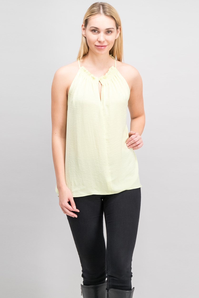 Melinda Side Slit Top, Starfruit