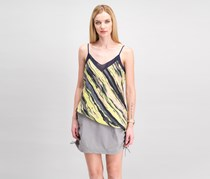 Women Asymmetrical Colorblocked Top, South Beach