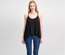 Rachel Roy Women Layered-Look Racerback Top, Black