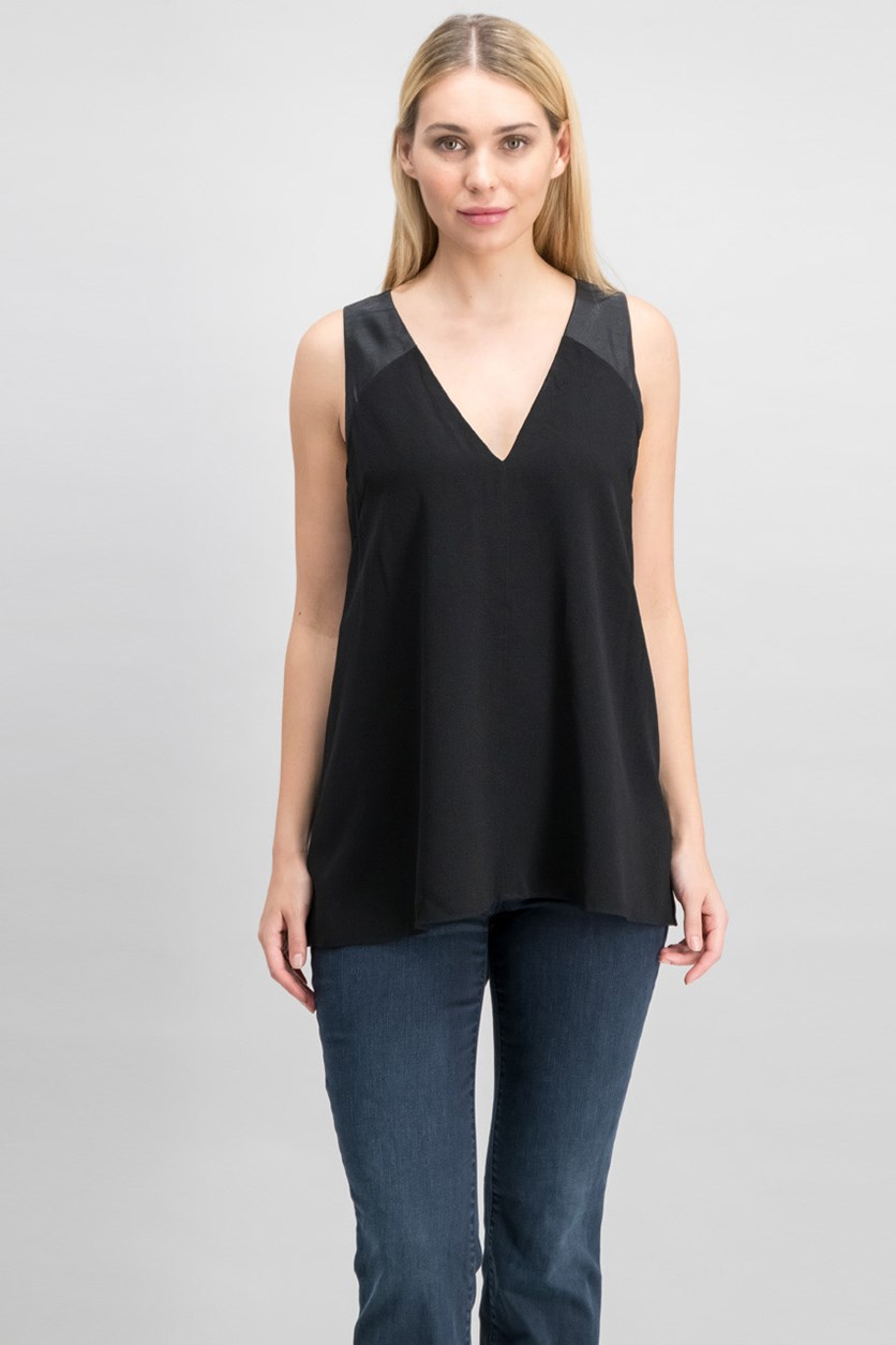 Women's Criss Cross Tops, Black