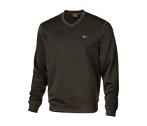 Greg Norman Mens Rapiwarm  V-Neck Sweater, Dark Green Marine