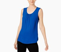 Anne Klein Scoop-Neck Shell, Mariner