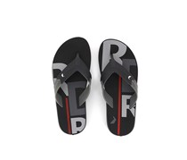 Rider Men's Double Thong Flip Flops, Black/Gray