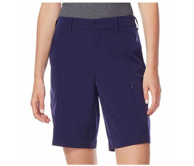 Ladies' Woven Stretch Short, Evening Blue