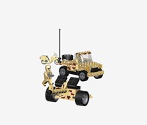 Best-Lock 124 Pieces Military Recon Building Toy, Beige/Black