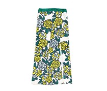 KAS NY Women's Floral Printed Skirt, Green/White
