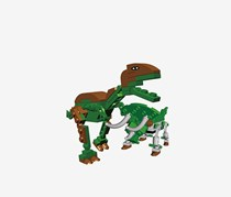 Best-Lock 121 Pieces T-Rex And Triceratops, Green