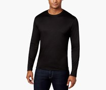 Men's Soft Touch Stretch Long-Sleeve T-Shirt, Black