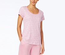 Charter Club Printed Cotton Knit Pajama T-Shirt, Floral Orchid