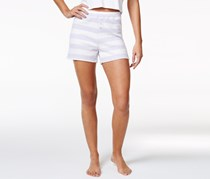 Nautica Striped Boxer Pajama Shorts, Lilac/White