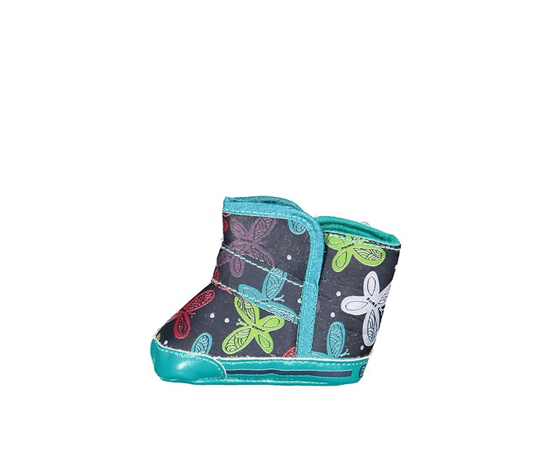 Boboli Toddlers Butterfly Boots, Green/Navy Combo