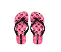 Ipanema Kids Girl Ipanema Love Print Slippers, Pink/Black