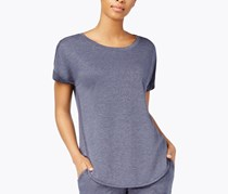 Alfani Scoop-Neck Pajama Top, Blue Heather