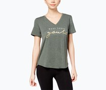 Alfani Graphic Pajama T-Shirt, Calm Sage Heather