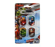 Marvel Avengers Dog Tags and Chain Set, Blue Combo