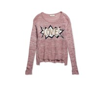 Basil Graphic Sweater, Pink