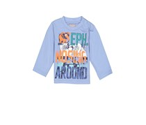 Boboli Toddler Boy's Graphic Shirt Long Sleeve, Blue