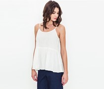Movint Women's Shirring Detailed Cami Top, White