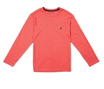 Nautica Boys Long Sleeve Tee, Dark Pink