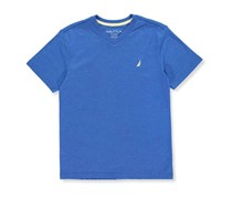 Nautica Boys Solid V-Neck Tee, Lapis Blue