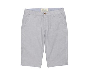 Nautica Big Boys' Solid Flat Front Short, Grey