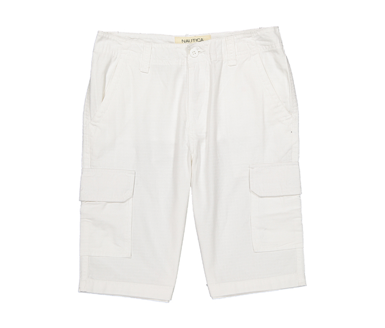 Nautica Big Boys Cargo Short, White