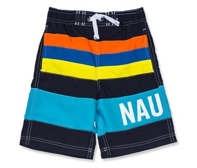 Nautica Boys Zachary Colorblock Swim Trunks, Navy Combo