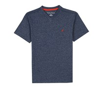 Nautica Big Boys' Short Sleeve Solid V-Neck T-Shirt, Navy