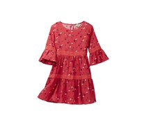 Lucky Brand Kids Girl Tatiana Dress, Spiced Coral