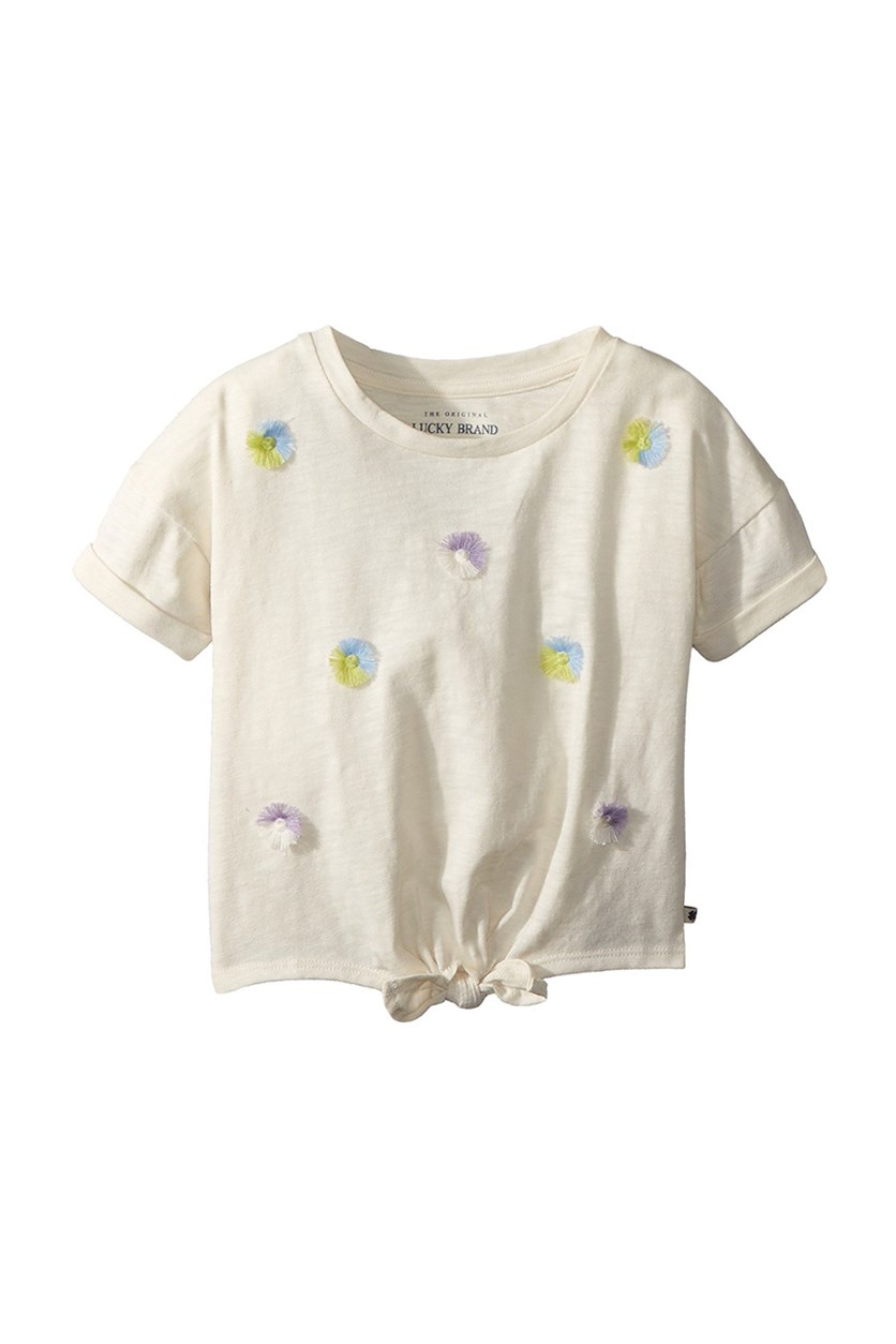 Kids Girl Tara Tee, Whisper White