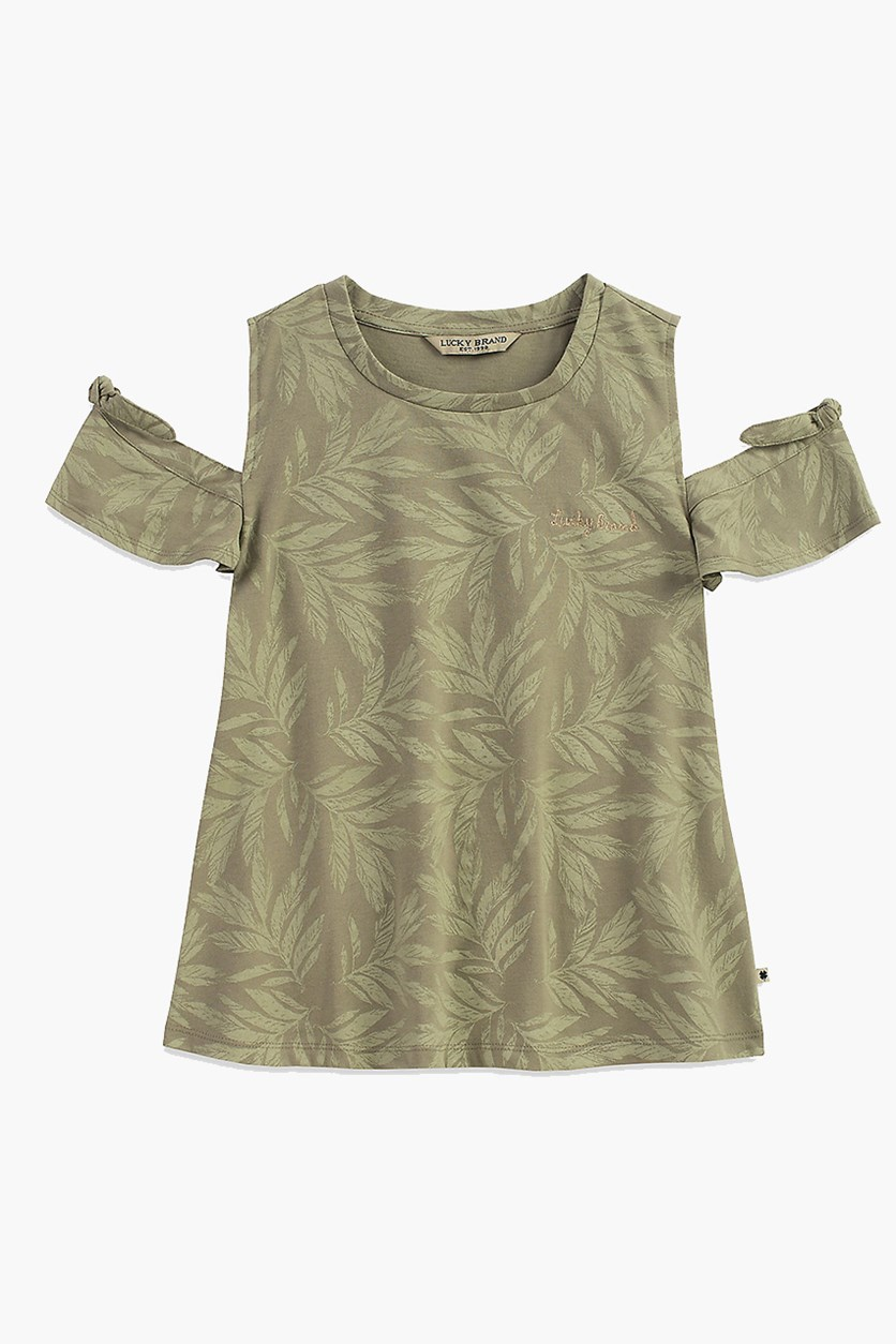 Kids Girl Hyacinth Tee, Seagrass
